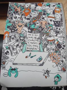 my first doodle done with markers. by fivelines coco