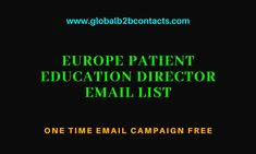 All contacts on this Patient Education Director Mailing List are the most senior decision maker for Patient Education Director in their company, likely to be able to sign off budgets and major oncology service initiatives.