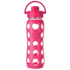 Rasberry BPA Free Reusable Glass Water Bottles by Life Factory - BuyGreen.com $23