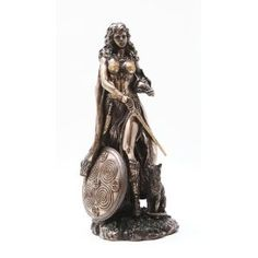Freyja (Freya) Norse Goddess of Love, Beauty and Fertility, Real Bronze Powder Cast Statue, 10 1/2-inch