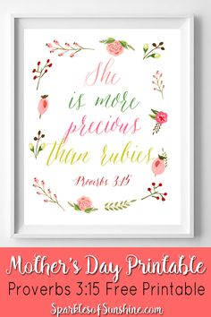 Snag your copy of this beautiful floral Mother's Day Printable at Sparkles of Sunshine today. Mothers Day Gifts From Daughter Diy, Mothers Day Wreath, Mother Day Gifts, Relief Society Gifts, Relief Society Activities, Mother's Day Printables, Box Of Sunshine, Free Printable Art, Creative Gifts