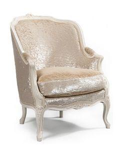Metallic cow hide chair from Paris. Love!
