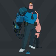 Here's some fanart and skins of one of my favourite characters - MR INCREDIBLE! To be honest I can't decided which skin I love more but there's something about the second one that makes him look menacing and I love it! 3d Character, Character Concept, Character Design, Disney Incredibles, Disney Pixar, Cartoon Art, Comic Art, Dads, Fan Art