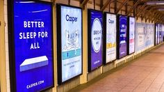 Why sleep start-up Casper is advertising on taxis Casper Mattress, Dynamic Logo, Canadian National Railway, Brand Campaign, Advertising Campaign, Big Move, Nyc Subway, Marketing Data, New Tricks