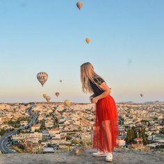 Cappadocia Balloons Sunrise Bucket List Travels Solo Travel Turkey Explore Instagram Worthy Beautiful View Cappadocia Balloon, Visit Turkey, Instagram Worthy, Hot Air Balloon, Antalya, Solo Travel, Travel Guide, Istanbul, I Am Awesome