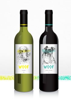 Woof Wine by mei linn chan, via Behance The Effective Pictures We Offer You About tea Packaging Desi Beer Packaging, Food Packaging Design, Wine Label Design, Bottle Design, Wine Bottle Labels, Beer Label, Dog Branding, Personalized Wine, Product Label