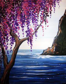 Watercolor Paintings For Beginners, Simple Canvas Paintings, Easy Landscape Paintings, Easy Canvas Painting, Acrylic Painting Tutorials, Beginner Painting, Painting & Drawing, Watercolor Art, Canvas Art