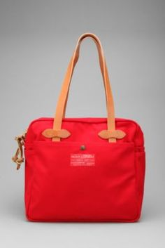 red label zippered tote bag / filson