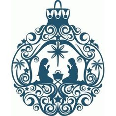 Silhouette Design Store - View Design #53103: nativity ornament