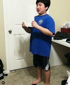 Child singing a gospel song