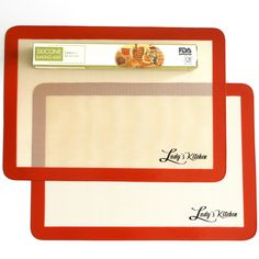 2-Pc Silicone Baking Mats