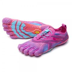 Redesigned with softer uppers and perforated to maximize breathability, the women's Vibram FiveFingers V-Run road-running shoes offer more comfortable ventilation than ever. Available at REI, Satisfaction Guaranteed. Finger Shoes, Vibram Fivefingers, Running Women, Road Running, Trail Running, Barefoot Shoes, Best Running Shoes, Sneakers Fashion, Women's Sneakers