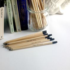 """""""I read dead people"""" witty pencil by Emma Makes. A Passage To India, Read Dead, Stationery, Pencil, Jar, Portrait, Reading, People, How To Make"""