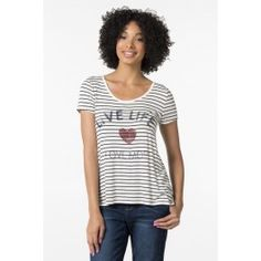 Ivory stripe Live Life Love More t-shirt Live Life Love, Off Shoulder Fashion, Cute Outfits, T Shirts For Women, Hoodies, Tees, Sweaters, Ivory, Clothes
