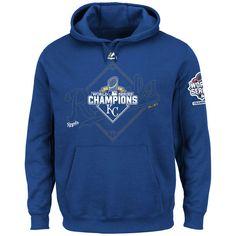 Kansas City Royals Majestic 2015 World Series Champions Infielder Hoodie - Royal - Fanatics.com
