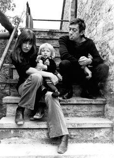 Serge Gainsbourg, Jane birkin & Kate Barry
