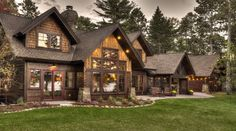 Luxury Cabin On The Whitefish Chain. Enjoy this Luxurious Cabin on the Whitefish Chain of Lakes located on a 1 acre lot and 175 feet of lakeshore with hard. Log Cabin Kits, Log Cabin Homes, Minnesota, House Ideas, Cabin Ideas, Luxury Cabin, Luxury Homes, Lake Cabins, Gardens