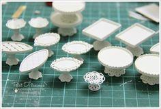 Petit D' Licious: Dollhouse Miniature Creamy White Dessert Pedestal Stand