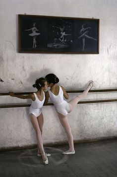 A ballet school, Zagreb, Croatia, 1990 - Steve McCurry                                                                                                                                                                                 More