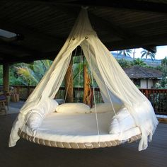 My Spa Shop – The Floating Bed is the best hanging bed for better sleep. For your bedroom, outdoor bed, round bed, daybed, canopy bed. Gentle floating motion for deep relaxation. Recycled Trampoline, Backyard Trampoline, Outdoor Hanging Bed, Hanging Beds, Outdoor Beds, Hanging Chairs, Outdoor Rooms, Indoor Outdoor, Outdoor Living