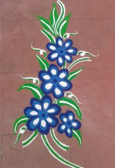 Get of beautiful rangoli designs for Diwali, New Year and Competition. Discover these beautiful rangoli designs of Ganesh, peacocks and with flowers. Free Hand Rangoli Design, Small Rangoli Design, Colorful Rangoli Designs, Rangoli Designs Diwali, Diwali Rangoli, Beautiful Rangoli Designs, Diwali Pooja, Rangoli Borders, Rangoli Patterns