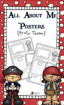 All About Me Posters: Pirate Theme