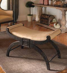 Tuscan Bench, Tuscan Ottoman, Tuscan Furniture, Tuscan Vanity Bench. Uttermost 23109 Corona, Bench. Tuscan Home Decor Retailer Since 1996. Free Shipping. BellaSoleil.com Tuscan Decor.