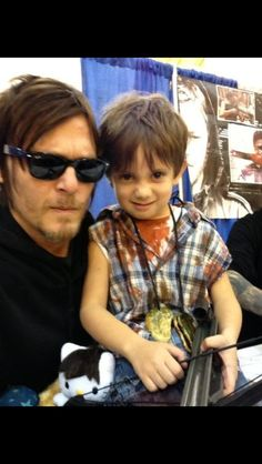 Norman and CUTE little cosplaying Daryl