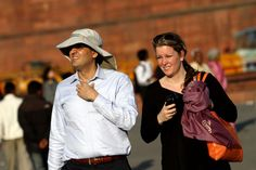 Indian summers are back - Foreign tourists feel the heat as temperatures rise in Delhi. (IE Photo: Ravi Kanojia) Today In Pictures, Indian Summer, Now And Forever, Helping Others, Foundation, Future, Business, Fashion, Moda