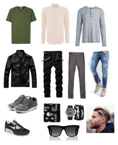 """Indra casual sporty look"" by arini-lioni on Polyvore featuring Farah, Oliver Spencer, Voi Jeans, Gucci, Alexander McQueen, A.X.N.Y., NIKE, New Balance, Vince and men's fashion"