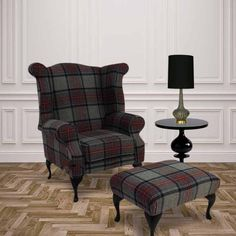 wool check armchair - Google Search