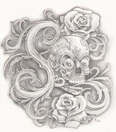 Monogram S with Tibetan Skull by ~ bsguru