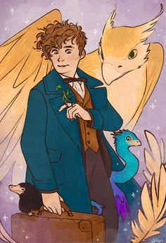 anyways how cool is it that the main character of a movie in the harry potter franchise is on the spectrum Fantastic Beasts Fanart, Fantastic Beasts And Where, Harry Potter Artwork, Harry Potter World, Duck Tales, Harry Potter Aesthetic, Magical Creatures, Cultura Pop, Cat Memes