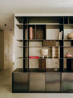 FNL Apartment in Warsaw by Paradowski Studio | Yellowtrace Interior Photo, Interior Design, Home Furniture, Furniture Design, Modern Shelving, Storage Shelves, Shelf, Shelving Units, Great Rooms