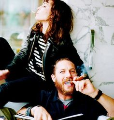 Noomi Rapace & Tom Hardy. This picture blows my mind. LOVE them!