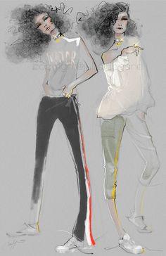 Znalezione obrazy dla zapytania tory burch fashion sketches