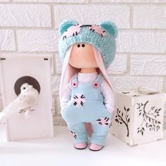 Crochet Doll Clothes, Knitted Dolls, Knitted Hats, Tilda Toy, Cute Toys, Collector Dolls, Fabric Dolls, Baby Sewing, Handmade Toys
