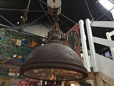 Small Industrial Metal Style Pulley Light Chain Rustic Vintage Retro UK Standard