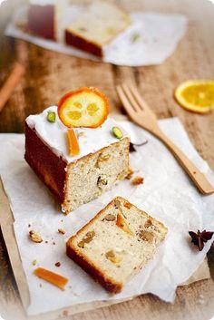Fragante pastel de naranja confitada