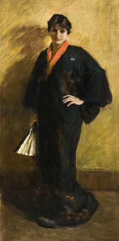 The Blue Kimono - William Merritt Chase (American, 1849 – 1916)