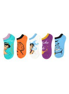 Disney Aladdin No-Show Socks 5 Pair | Hot Topic