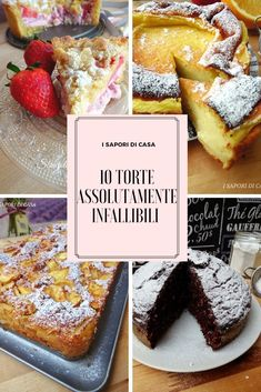 Con 10 torte assolutamente infallibili ho pensato di proporti dei dolci buoniss… With 10 absolutely infallible cakes I thought of offering Sweet Recipes, Cake Recipes, Dessert Recipes, Great Desserts, Delicious Desserts, Cake Cookies, Cupcake Cakes, Best Italian Recipes, English Food