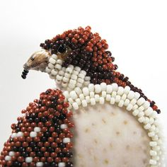 Red Tailed Hawk Brooch Hand Beaded by patereeves on Etsy, $75.00
