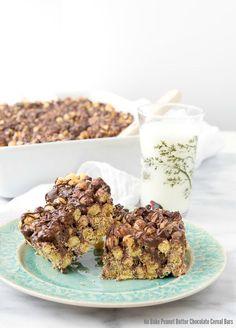 No Bake Peanut Butter Chocolate Cereal Bars {15 minute recipe} - BoulderLocavore.com