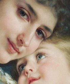 "Emile Munier ""A Tender Embrace"" 1887 (Detail) Paintings I Love, Beautiful Paintings, Portrait Art, Portraits, Munier, Renaissance Paintings, Historical Art, Victorian Art, Classical Art"