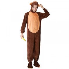 DJGRSTER Adult Animal Halloween Cosplay Costumes Monkey Plush Animal Costume  For Men Halloween Jumpsuits Costumes a9060d3555d8