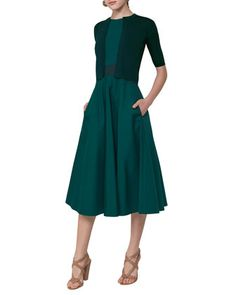 Sleeveless+Cotton+Cross-Waist+Dress,+Multi+and+Matching+Items+by+Akris+punto+at+Bergdorf+Goodman.