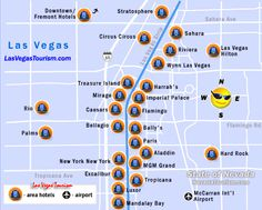 Las Vegas Strip Distance Map Family Hotels Further Up To Offer - Map of downtown las vegas hotels