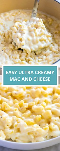 Easy Ultra Creamy Mac and Cheese Everyone needs a go-to homemade mac and cheese recipe in their back pocket, and this one is ours. It's effortless to make, tastes fantastic, and makes super creamy macaroni and cheese. Easy Homemade Macaroni And Cheese Recipe, Creamy Macaroni And Cheese, Easy Mac And Cheese, Macaroni Cheese Recipes, Mac Cheese, Creamy Cheese, Cheddar Cheese, Easy Gluten Free Mac And Cheese Recipe, Alfredo Mac And Cheese Recipe