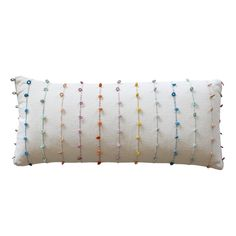 Our Abbie Multicolor Loop Lumbar Pillow will add a global vibe to any decor. Featuring colorful yarn loop detailing, this extra large lumbar pillow will lend a dose of color and whimsy to your space. Pillow Room, Lumbar Pillow, Yellow Pillows, Dose Of Colors, Decorative Throw Pillows, Turquoise Bracelet, Pillow Covers, Beaded Bracelets, Shop